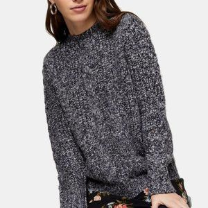 TOPSHOP Vertical Cable Crew Sweater L